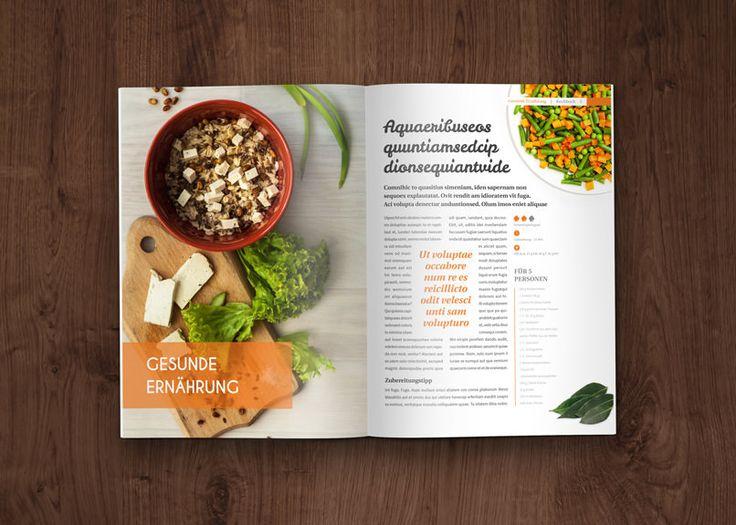 Vorlagen für Rezeptbuch, Kochbuch, Backanleitung im A4-Hochformat