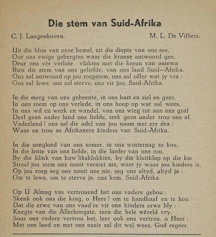 Die Stem van Suid Afrika