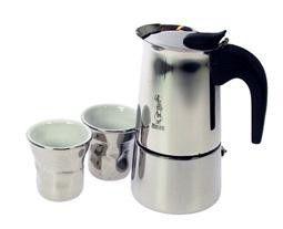 Espressokeitin 4 + 2 kuppia hopea