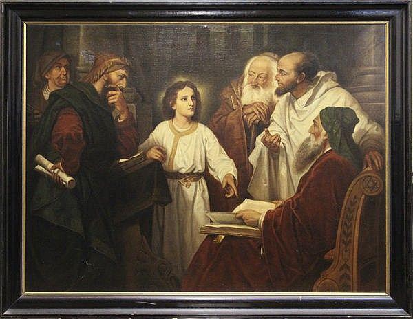 J. F. Hoevenaar. Fils et élève de Willem Pieter Hoevenaar, Josephus Hoevenaar, peintre de genre né à Utrecht en 1840, mourut en 1926 (Bénézit). Il copie ici deux aeuvres de Johann-Michael-Ferdinand-Heinrich Hoffmann peintre d'histoire et portraitiste né à Darmstadt en 1824 et mort à Dresde en 1911, qui étudia à Anvers et s'installa à Dresde où il devint professeur à l'Académie (Bénézit).