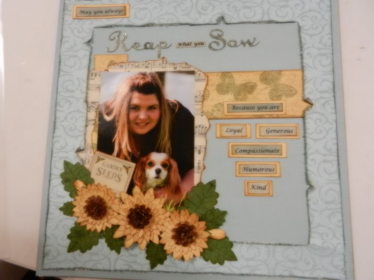 scrapbooking reap what you sow