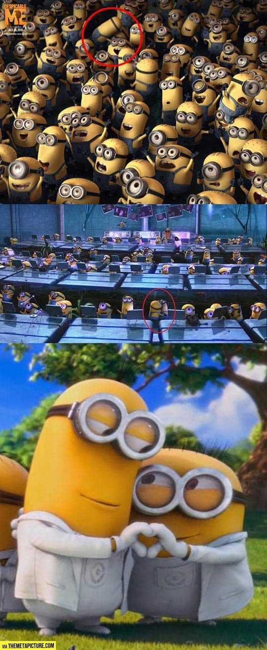 Minions, happy together // funny pictures - funny photos - funny images - funny pics - funny quotes - #lol #humor #funnypictures