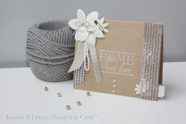 Karine KJ pour Scrap à la Carte - Tampon Home Sweet Home