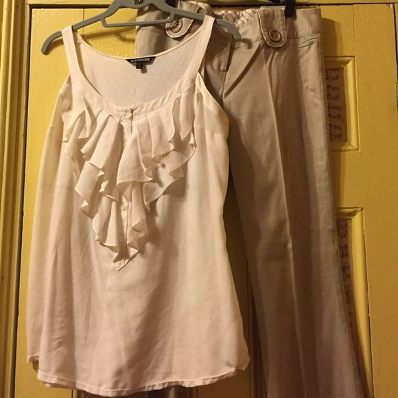 Business casual outfit! EXPRESS TOP, Charlotte Russe pant. Selling as a set. Great deal and great outfit for interview, meeting, etc. Express Other