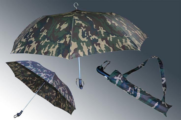 Ombrello riducibile con gancio per caccia