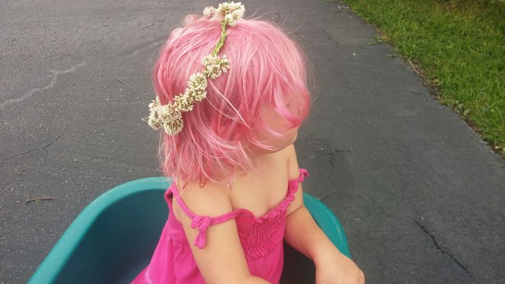 Food coloring + conditioner makes temporary hair dye for kids