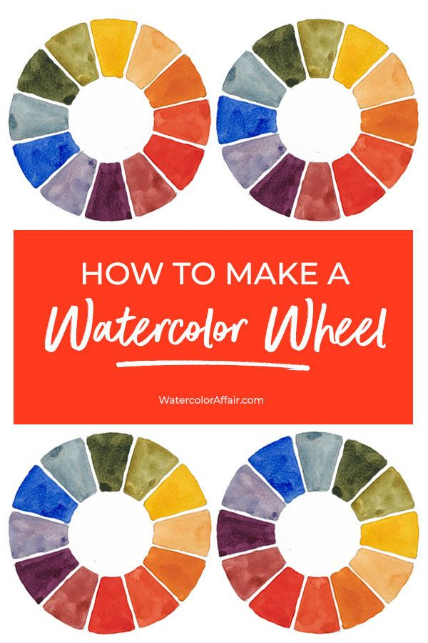 A Great Tutorial About How To Make A Watercolor Wheel Step By Step