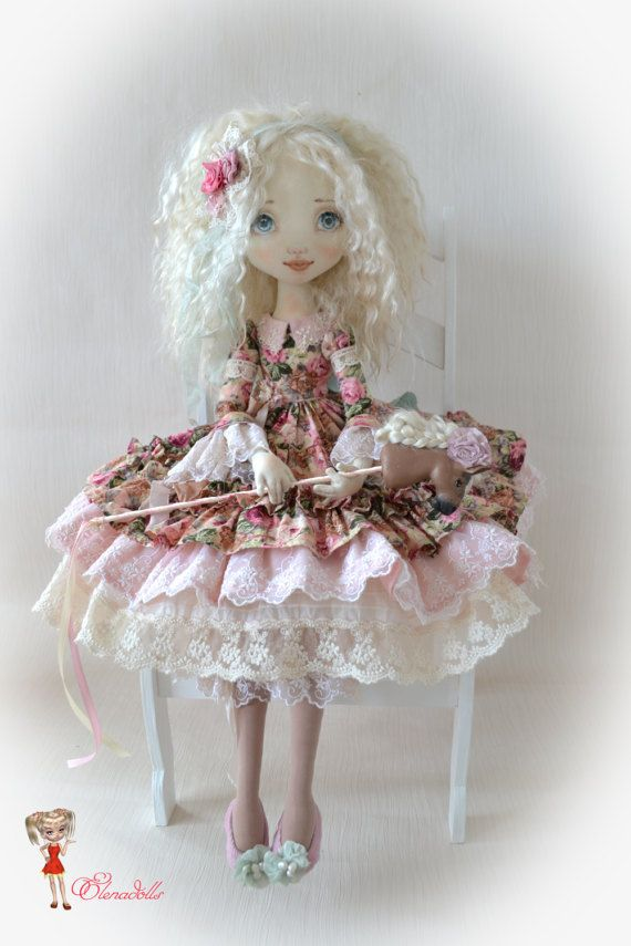 Scarlett. Textile doll. Big doll. 25 inches. от ElenaDolls на Etsy