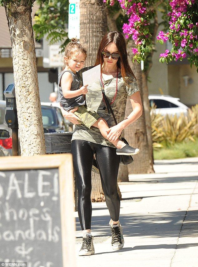 Sashay on the sidewalk: Megan Fox went for a stroll with her son Noah on Thursday