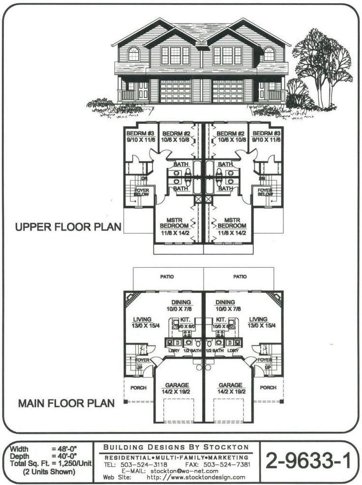 84 best multi unit homes images on pinterest condos for Multi unit apartment building plans