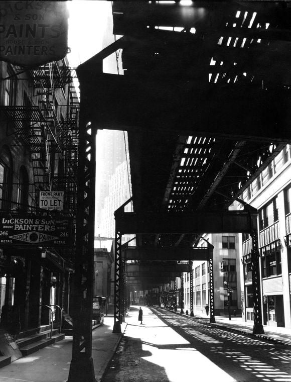 Berenice Abbott  'EI' 2nd & 3rd Avenue lines,1936