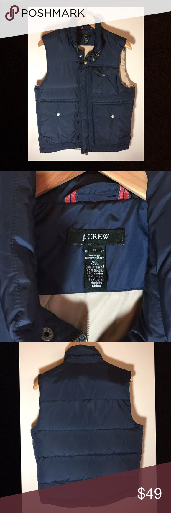 J Crew Blue Down-filled Puffer Vest Very comfortable and soft J Crew Puffer Vest.  Worn twice at most. J. Crew Jackets & Coats Vests