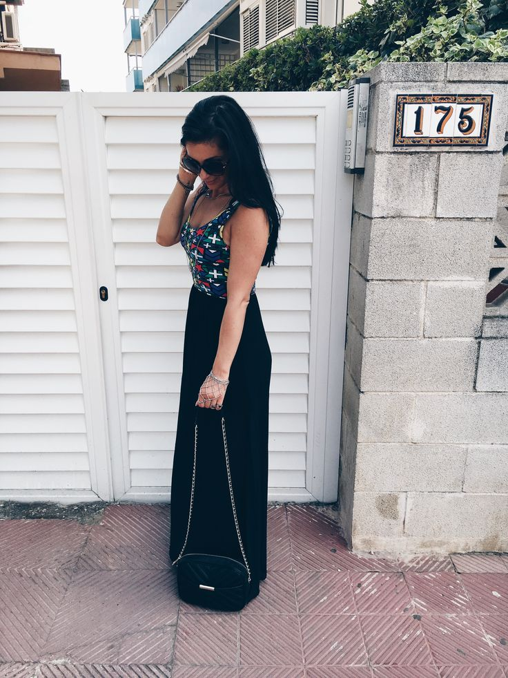 Maxi Dress from H&M * Shoulder bag in black from ZARA * Prints * Fashionblog  OOTD * Boho Jewellry