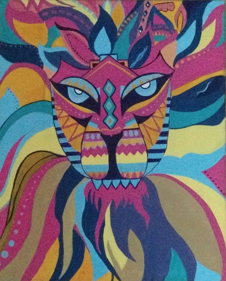 Carnival Lion(Acrylic)