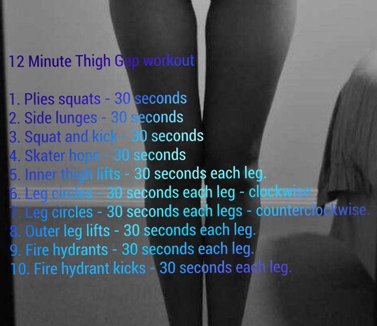 1000 ideas about thigh gap exercise on pinterest thigh