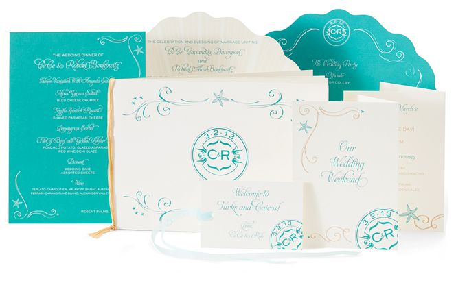 Ellen Weldon Design and her team hand-produce unique and fabulous wedding invitations using papers and materials sourced from around the globe.