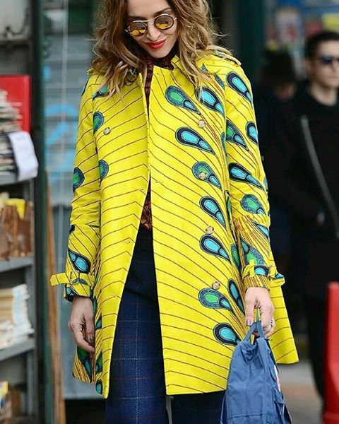 How gorgeously vibrant is this ankara coat?                                                                                                                                                      More