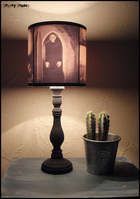 Nosferatu Lampshade lamp shade  halloween decor by SpookyShades, €45.00