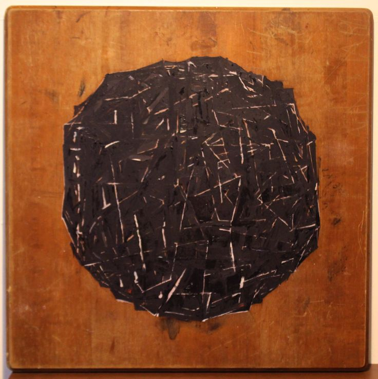 The Black Ball (2014) Oil on Wood 750 x 750 mm $1200