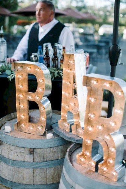 Elegant outdoor wedding decor ideas on a budget 36