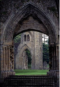 [Glastonbury Abbey]  ... Somerset, UK Been here, it's stunning, sunset in Spring, lovely.