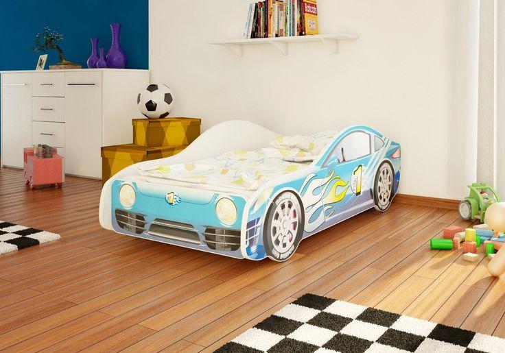 Autobett Junior in vier Farben mit Lattenrost und Matratze 70x140 cm Top Angebot! (Blau): Amazon.de: Baby
