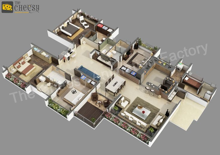The Cheesy Animation Is A 3d Floor Plan For House 3d