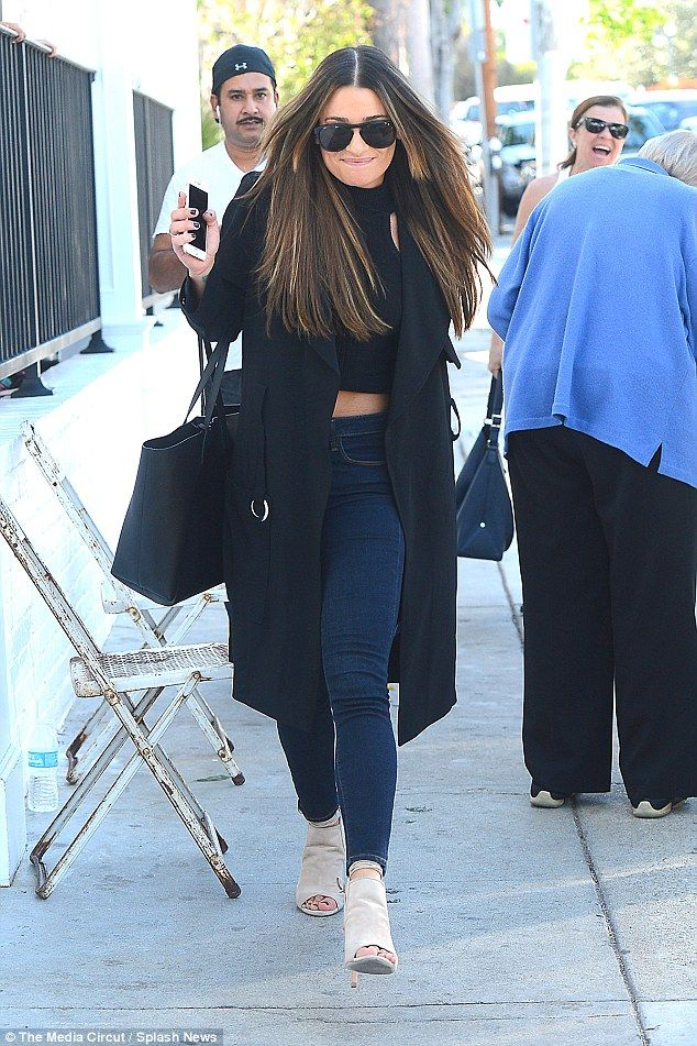 Looking good! Lea was clad in a chic ensemble as she pounded the pavement, teasing a glimp...