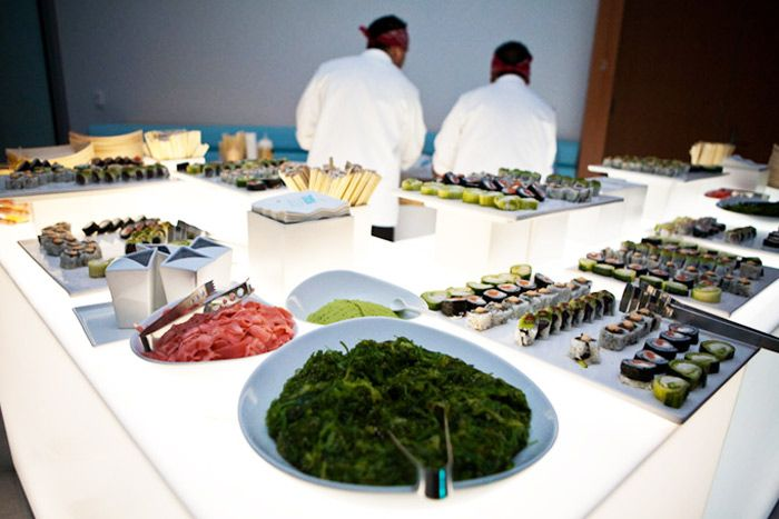 Shiraz Events provided a Latin-style sushi bar. Photo: Carisa Tuma for BizBash