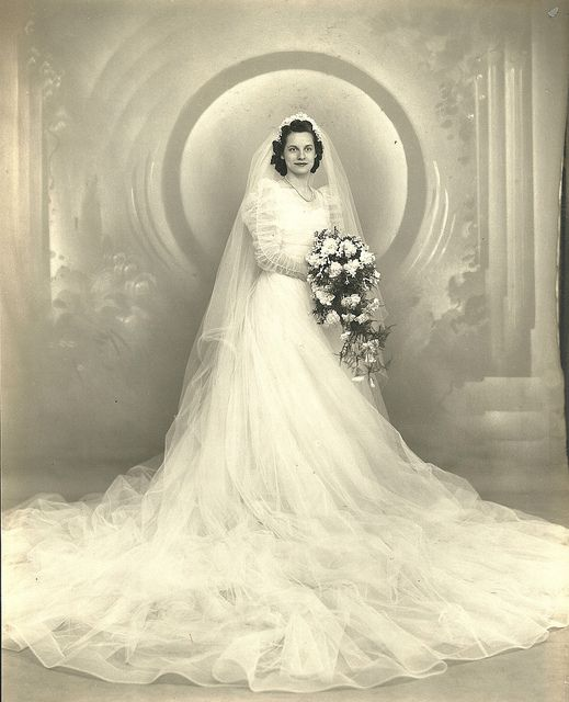 Beautiful vintage bride
