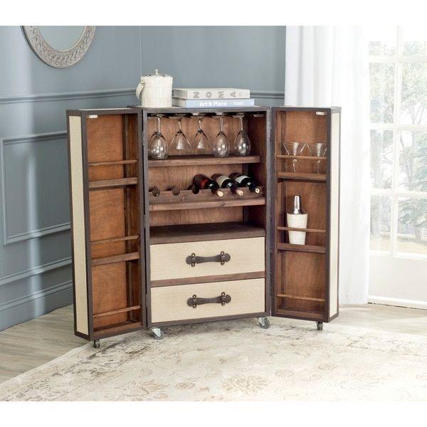 Safavieh Lexington Storage Beige Bar Cabinet