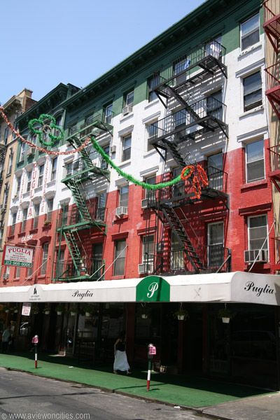 Little Italy, home of the San Gennaro Festival, was the longtime dwelling place of Italian immigrants when they first started moving to America in the early 19th century.   http://americas-best-bus.com/blog/