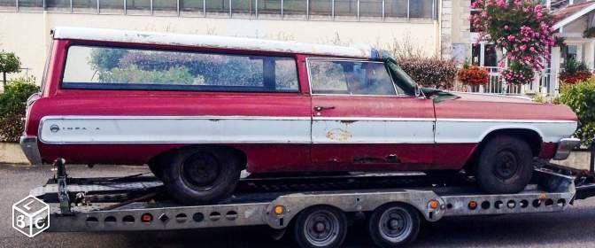 chevrolet impala 1964 break 2 portes voitures pyr n es atlantiques le bon coin. Black Bedroom Furniture Sets. Home Design Ideas