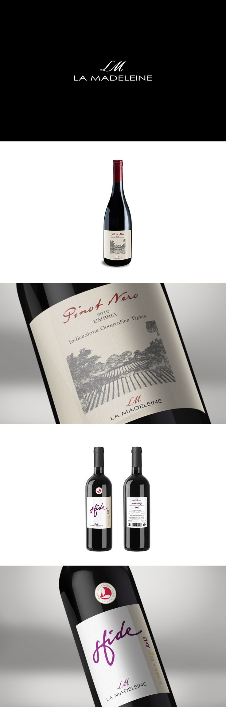 La Madaleine, Label Design ─ Giulio Patrizi Design Agency ©    #wine #label #design #bottle