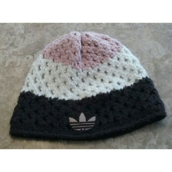 Adidas beanie So cool and unique Adidas beanie it is in excellent condition Adidas Accessories Hair Accessories