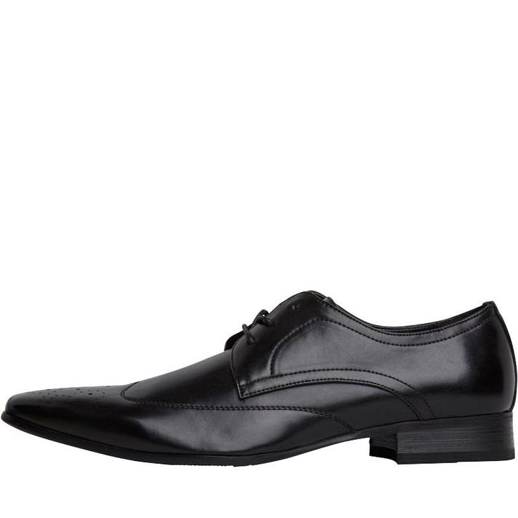 Fluid Mens Wing Tipped Brogue Shoes Black Fluid faux leather lace-up brogues. http://www.MightGet.com/february-2017-2/fluid-mens-wing-tipped-brogue-shoes-black.asp