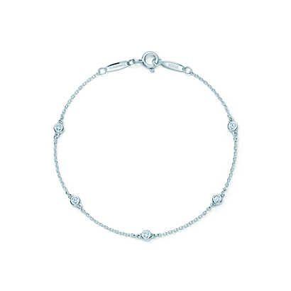 Elsa Peretti® Diamonds by the Yard® bracelet in sterling silver.