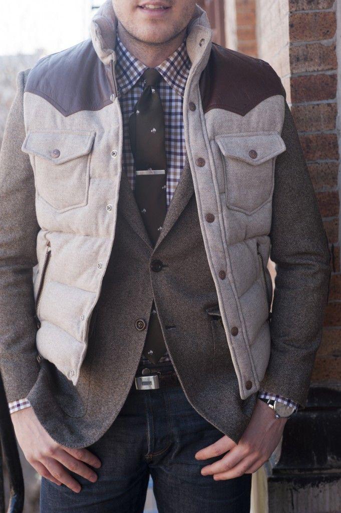 I like that...Cozy, Tweed Jackets, Style Bloggers, Ties Clips, Men Fashion, Fashion Sensation, Blazers, Nice Layered, Coats