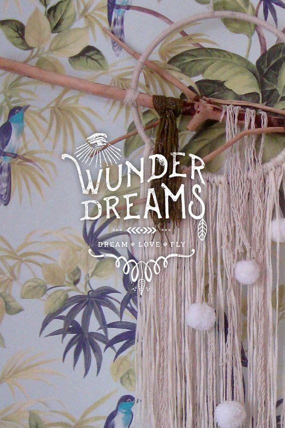 Lulu Bohemian Dreamcatcher with driftwood pom pom by Wunderdreams