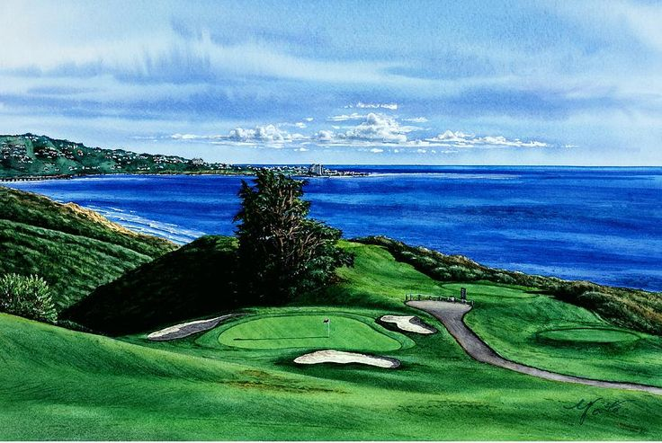 Torrey Pine Golf Course San Diego California by John YATO - Torrey ...