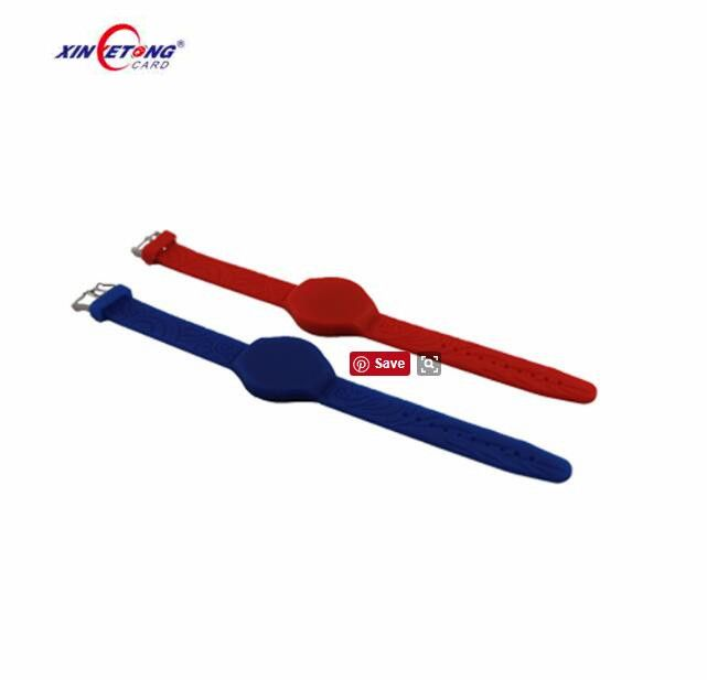 Sport Events NFC Chips ISO14443A HF Silicone RFID Wristband