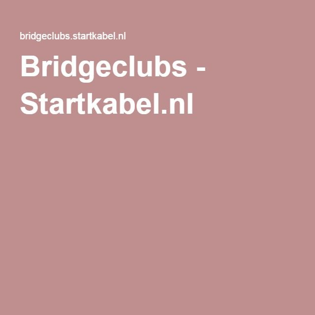 Bridgeclubs - Startkabel.nl