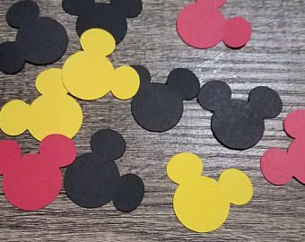 Mickey Mouse confetti, free shipping, Mickey Mouse birthday party, Mickey Mouse baby shower, Mickey Mouse wedding, Minnie Mouse confetti,