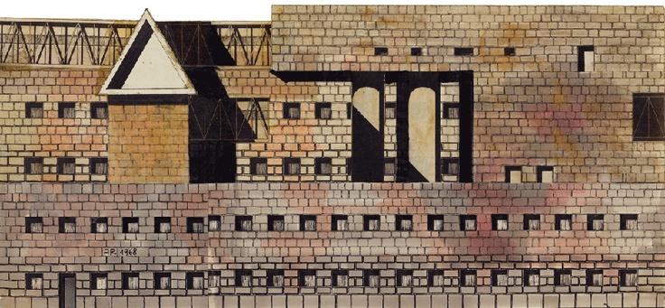 Aldo Rossi, Progetto per Municipio  Scandicci, 1968
