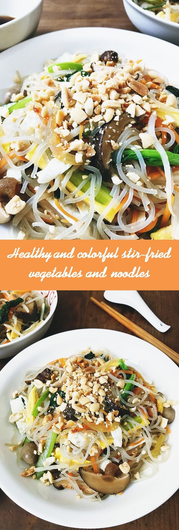 This vegetarian and refreshing dish with lots of nutritious veggies and noodles is a must for your healthy diet.