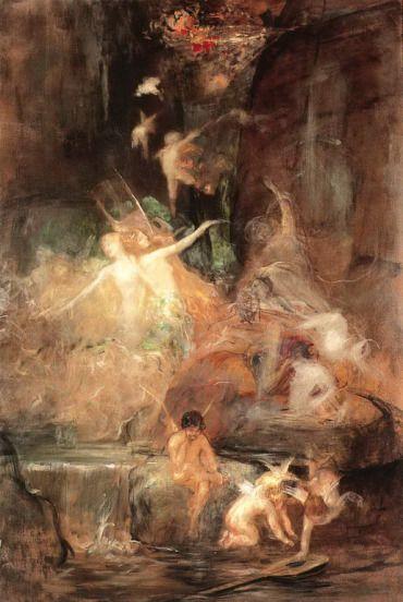 .:. Γύζης Νικόλαος – Gyzis Nikolaos [1842-1901] Ο ποιητής στην πηγή (Η έμπνευσις του ποιητού) π.1875-80