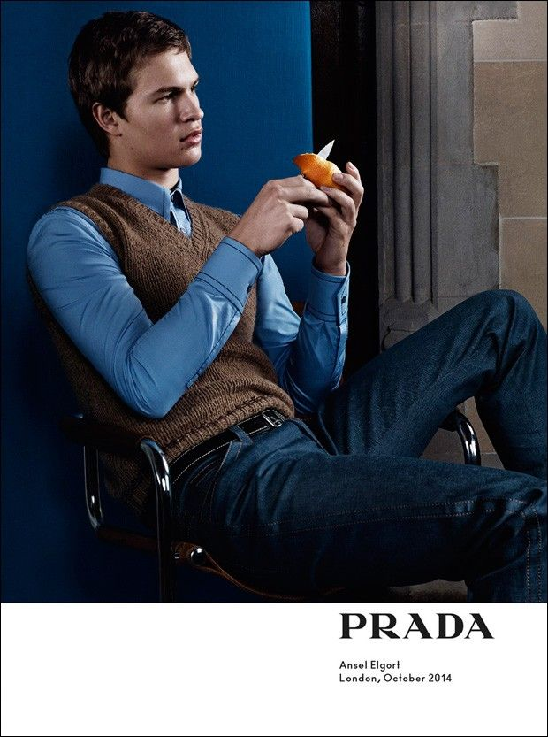 Ansel Elgort in Prada Spring/Summer 2015 campaign. Photographed by Craig McDean.