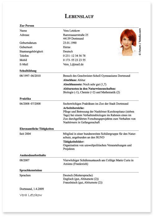 Beispiel für ein online-dating-profil