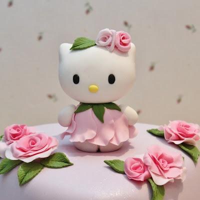 Hello Kitty vestida de rosa