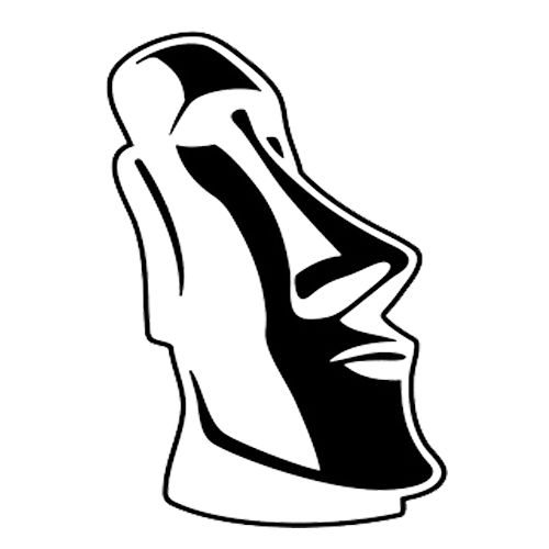 Moai Die Cut Vinyl Decal PV279